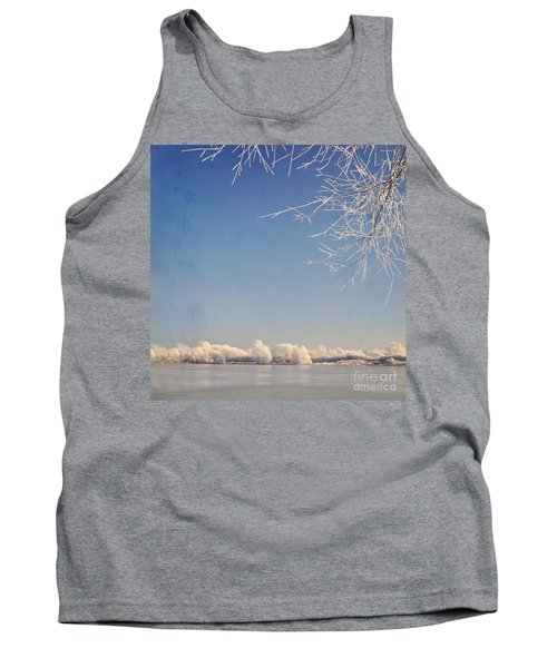 Winter Wonderland With Snowflakes Decoration. Tank Top