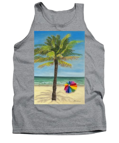 Tank Top featuring the painting Wish I Was There by Arlene Crafton