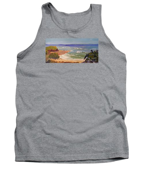 Tank Top featuring the painting Wombarra Beach by Pamela  Meredith