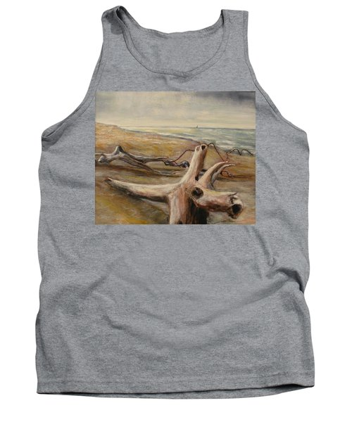 Wood Sand Water And Sky Tank Top