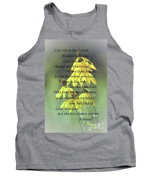 Tank Top featuring the photograph Words For My Teen by Cathy  Beharriell