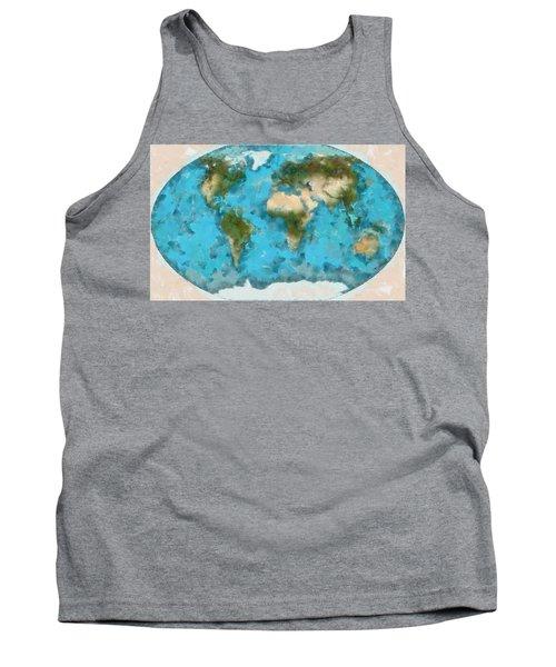 World Map Cartography Tank Top