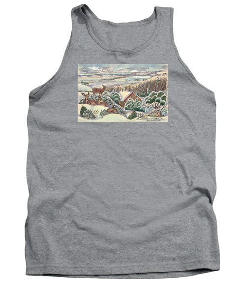 Wyoming Christmas Tank Top by Dawn Senior-Trask