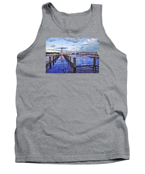 Yacht And Beach Club Lighthouse Tank Top by Thomas Woolworth