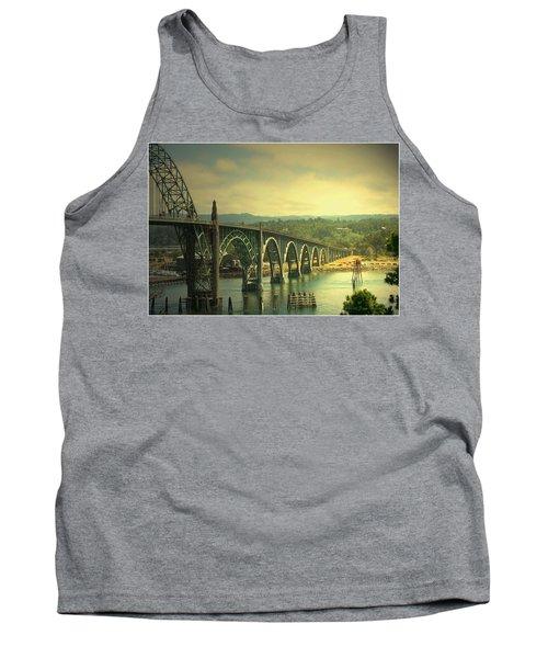 Yaquina Bay Bridge Or Tank Top by Joyce Dickens