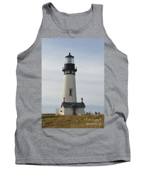 Tank Top featuring the photograph Yaquina Bay Lighthouse by Susan Garren