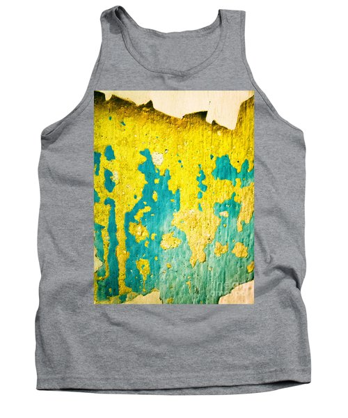 Tank Top featuring the photograph Yellow And Green Abstract Wall by Silvia Ganora