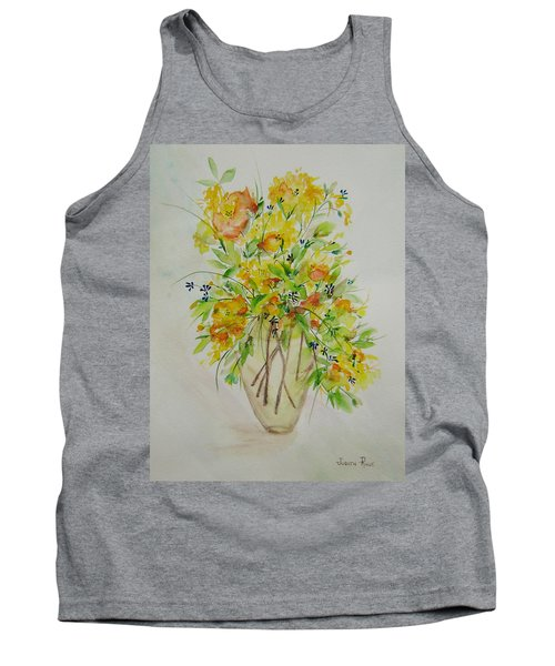 Yellow Flowers Tank Top by Judith Rhue