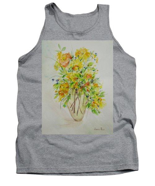 Yellow Flowers Tank Top