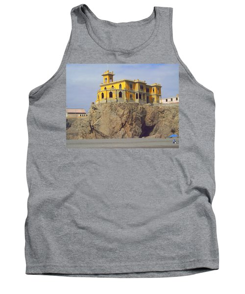 Tank Top featuring the photograph Yellow On The Rocks by Lew Davis