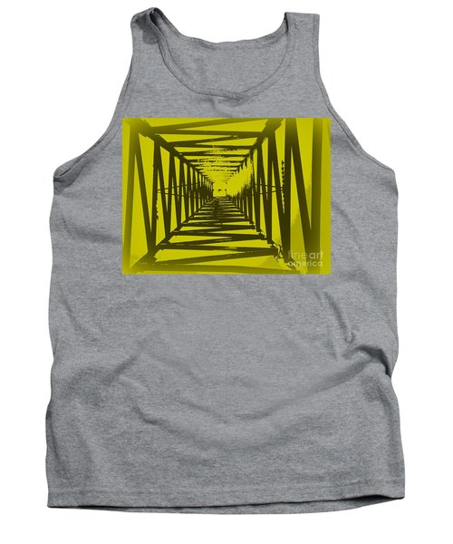 Yellow Perspective Tank Top by Clare Bevan