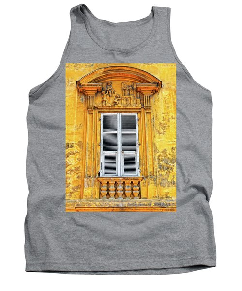 Tank Top featuring the photograph Yellow Window Nice France by Dave Mills