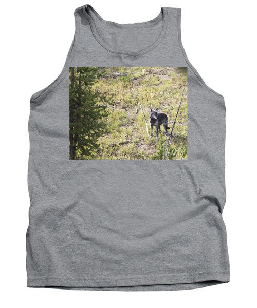 Yellowstone Wolf Tank Top by Belinda Greb