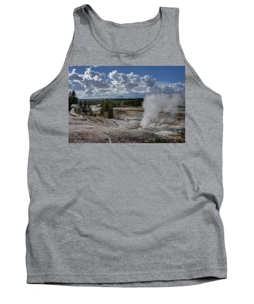 Tank Top featuring the photograph Yellowstone's Norris Geyser Basin by Bill Gabbert