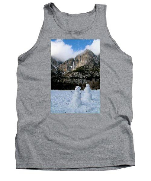 Yosemite Falls Snowmen Tank Top