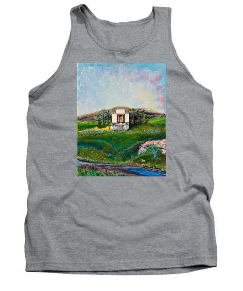 Tank Top featuring the painting You Are The Temple Of God by Cassie Sears