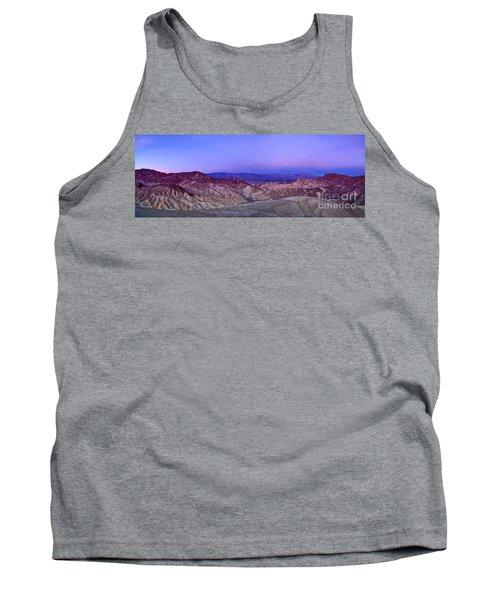 Zabriskie Sunrise Panorama - Death Valley National Park. Tank Top