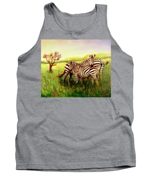 Zebras At Ngorongoro Crater Tank Top