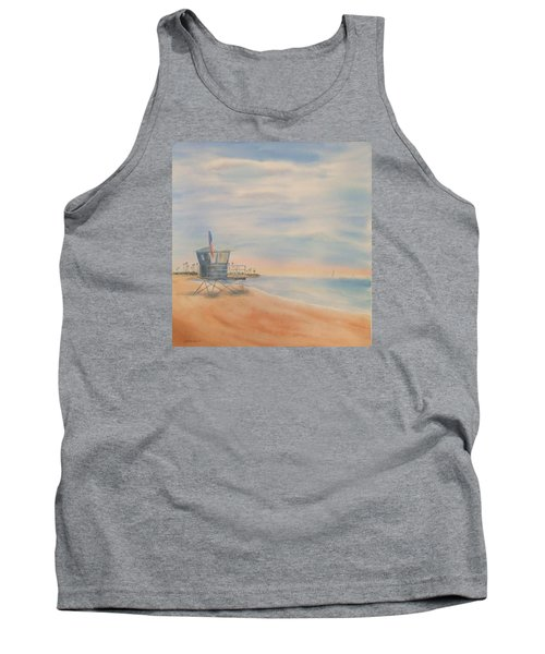 Morning By The Beach Tank Top by Debbie Lewis