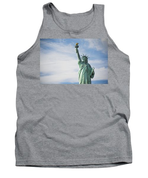 Tank Top featuring the photograph Statue Of Liberty by Theodore Jones