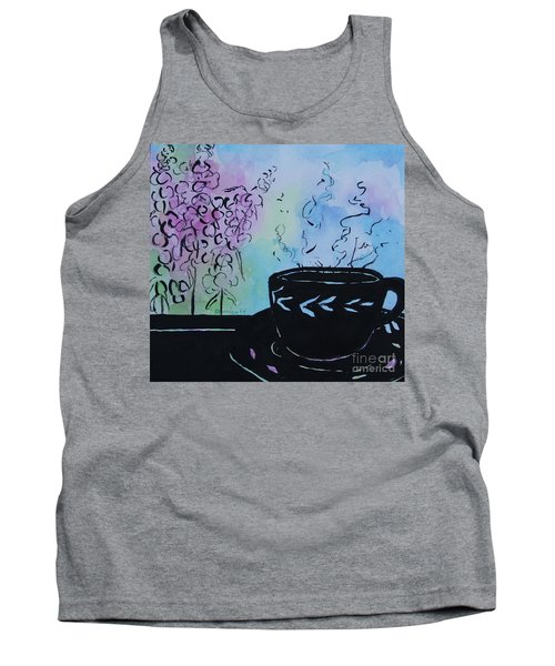 Tea And Snap Dragons Tank Top by Jan Bennicoff