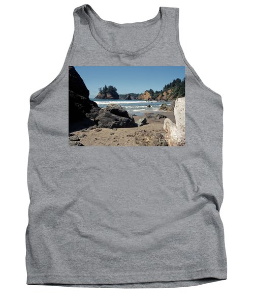 Tank Top featuring the photograph Trinidad Beach by Sharon Elliott