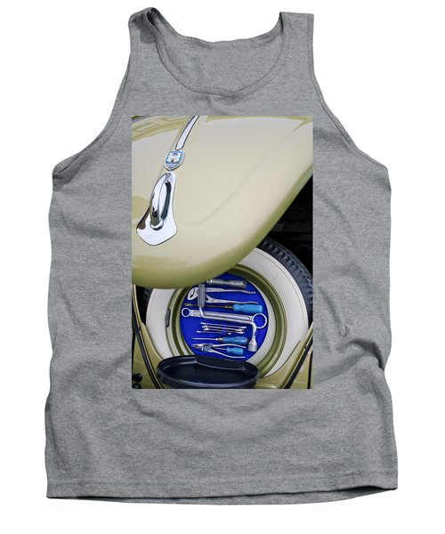 Tank Top featuring the photograph 1956 Volkswagen Vw Bug Tool Kit by Jill Reger