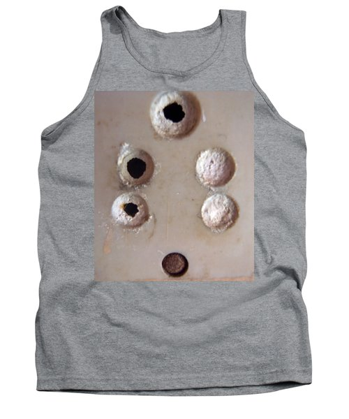 Tank Top featuring the photograph A Clogged Up 5 Point Electric Plug Point by Ashish Agarwal