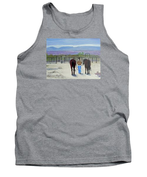 Texas - A Good Ride Tank Top by Christine Lathrop