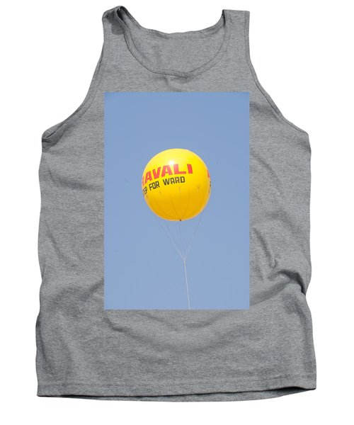 Tank Top featuring the photograph A Hot Air Balloon In The Blue Sky by Ashish Agarwal