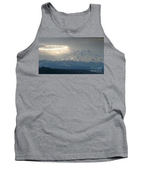 A Ring Of Bright Light Beside Mount Rainier Tank Top by Sean Griffin
