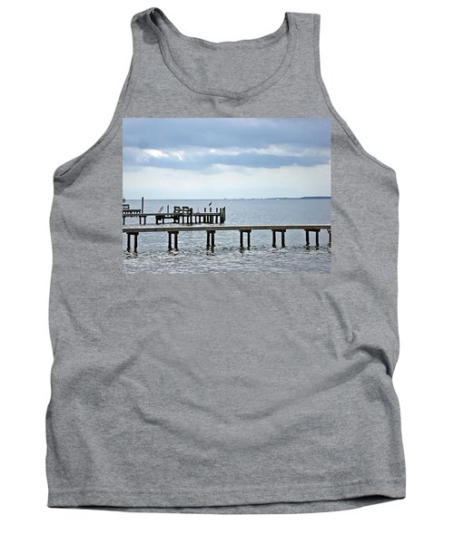 A Stormy Day On The Pamlico River Tank Top