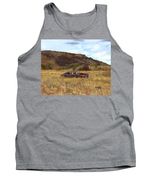 Tank Top featuring the photograph Abandoned Car by Steve McKinzie