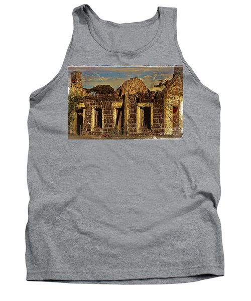 Tank Top featuring the digital art Abandoned Farmhouse by Blair Stuart