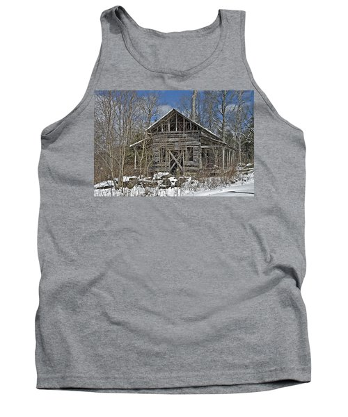 Abandoned House In Snow Tank Top