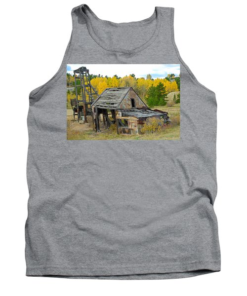 Abandoned Mine In Autumn Tank Top