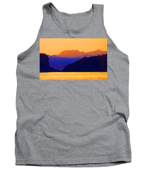 Tank Top featuring the photograph Agua Verde Abstract by Anne Mott