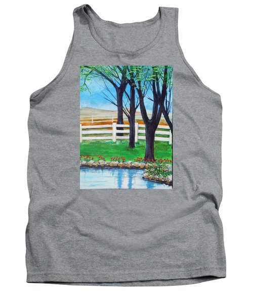 Tank Top featuring the painting Along The Lane by Dan Whittemore