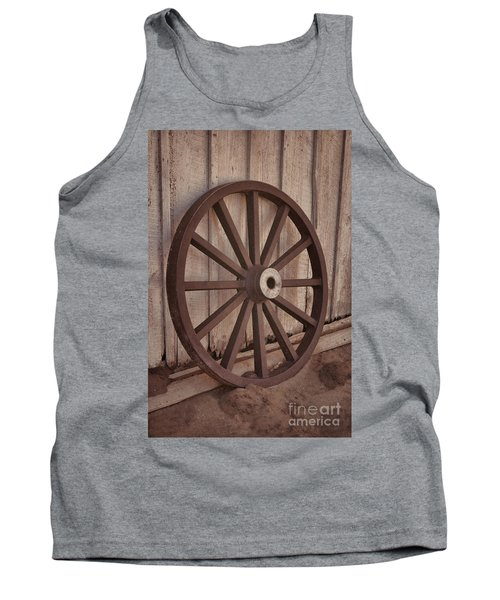 An Old Wagon Wheel Tank Top