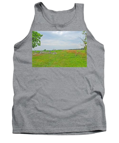 Tank Top featuring the photograph Antietam Battle Of The Cornfield by Cindy Manero