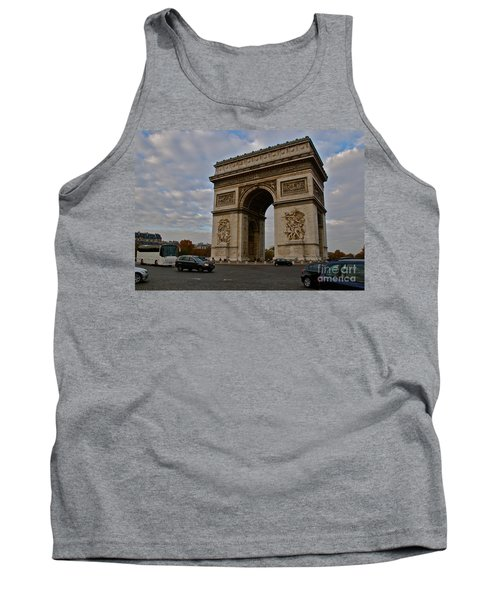 Tank Top featuring the photograph Arc De Triomphe by Eric Tressler