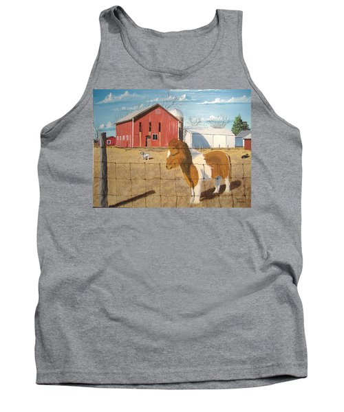 Tank Top featuring the painting At Home by Norm Starks