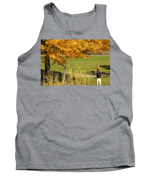 Autumn At The Schoolground Tank Top by Mick Anderson