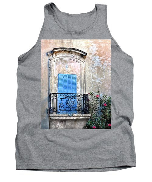 Tank Top featuring the photograph Balcony Provence France by Dave Mills