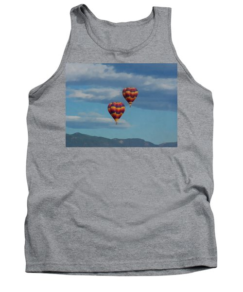 Balloons Over The Rockies Painterly Tank Top