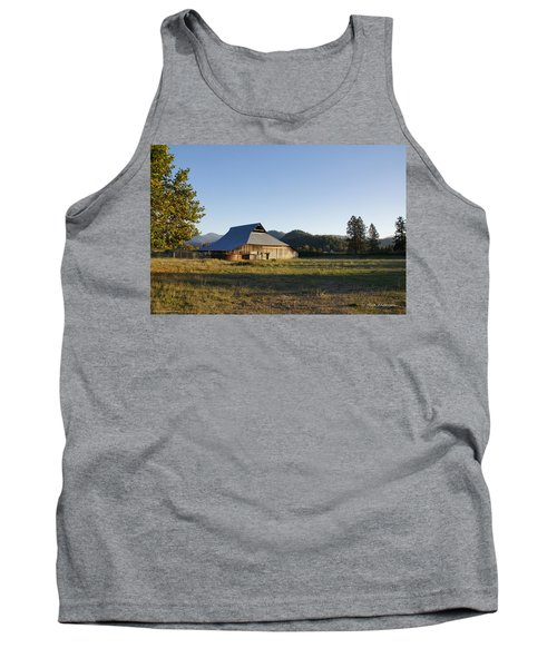 Barn In The Applegate Tank Top by Mick Anderson