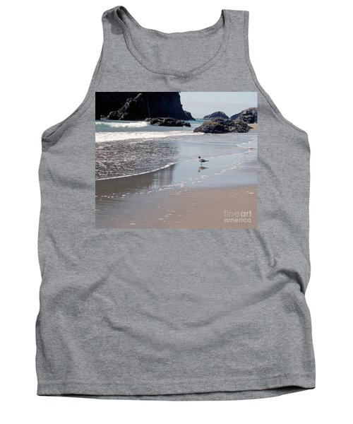 Tank Top featuring the photograph Beachcomber by Sharon Elliott