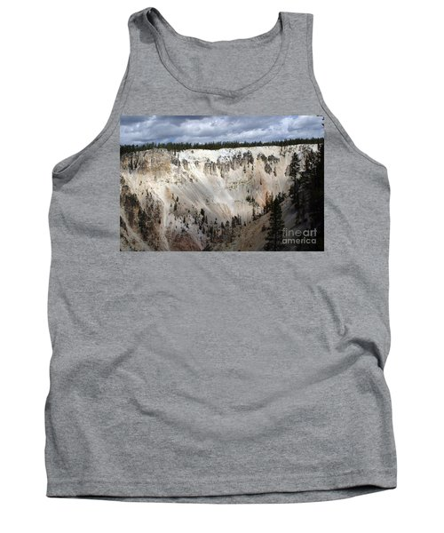 Tank Top featuring the photograph Beautiful Lighting On The Grand Canyon In Yellowstone by Living Color Photography Lorraine Lynch