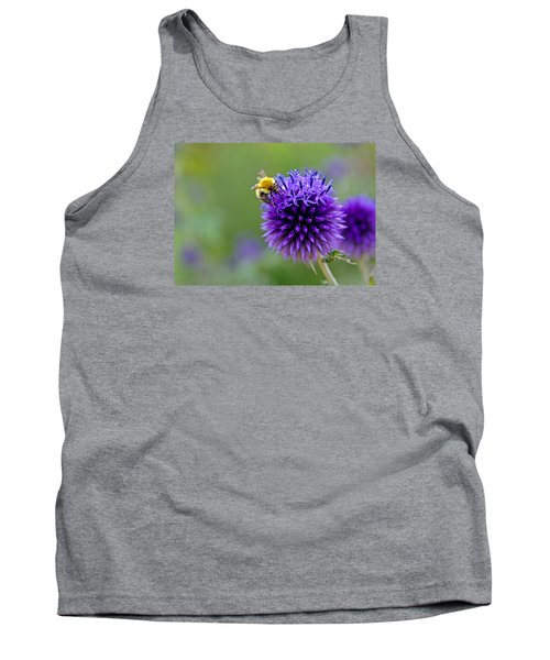 Bee On Garden Flower Tank Top
