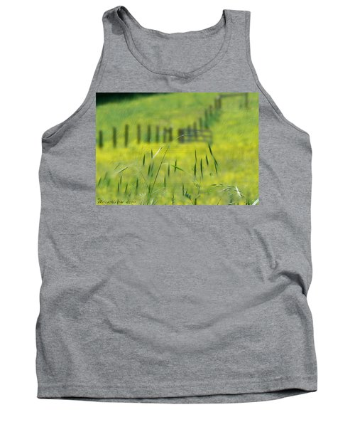 Tank Top featuring the photograph Beyond The Weeds by EricaMaxine  Price